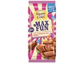 Шоколад ALPEN GOLD  MAX FUN арахис 160 г